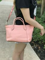 NWT Furla Johanna SMALL SATCHEL CROSSBODY LEATHER BAG PESCA/PEACH