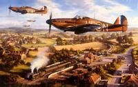 Tangmere Hurricanes by Nicolas Trudgian signed by RAF Hurricane Aces