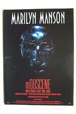 MARILYN MANSON - Mobscene - 2003 Magazine Advertisment Poster