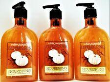 Bath Body Works WHITE PUMPKIN PEPPERCORN Nourishing Hand Soap, 8 fl. oz, NEW x 3