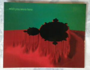 FRACTAL ART POSTCARD x10 WISH YOU WERE HERE craft math retro party invite comms