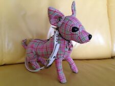 Pink Plaidberry Chihuahua Purse - FuzzyNation Novelty Bag for dog lovers