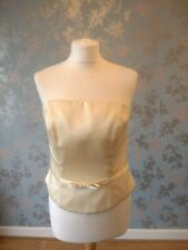 Berketex Wedding Bridesmaid Bodice Corset UK Size 16 Yellow SECONDS