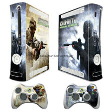 COD4 MW decal Skin Sticker case cover for xbox360 Console + controller skin TX25