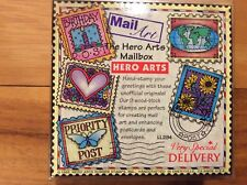 """HERO ARTS 1995 """"MAILBOX"""" Collection of 9 Individual Rubber Stamps RARE!"""