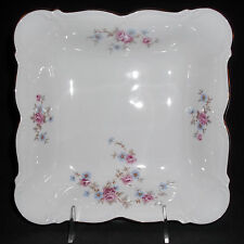"""1 Florence China by Edelstein - Square 8 1/2"""" Serving Bowl - Fine Bavarian China"""