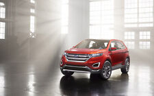 """FORD EDGE CONCEPT A1 CANVAS PRINT POSTER FRAMED 33.1"""" x 21.4"""""""