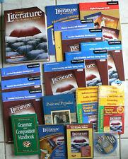 Glencoe British Literature HUGE LOT,gr.11-12 TE,Text,10 Workbooks,DVDs,CDs 2007