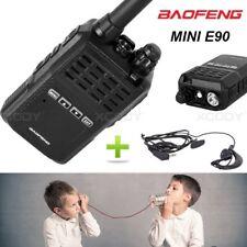 BAOFENG BFE90 TWO WAY RADIO MINI WALKIE TALKIE + PTT HEADSET UHF 400-470MHz new