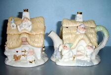 Lenox Disney Seven Dwarfs Cottage Sugar & Creamer Set Snow White New