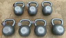 Weider Cast Iron Commercial Kettlebell 70 - 100 lb Single (Choose Your Weight)