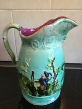 Antique Majolica French 19 century Pitcher Decanter