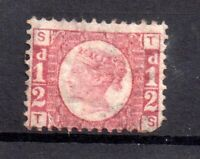 GB QV 1870 1/2d rose SG49 Plate 3 mint MH WS20803