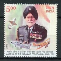 India Military Stamps 2019 MNH Arjan Singh Marshal Air Force Aviation 1v Set