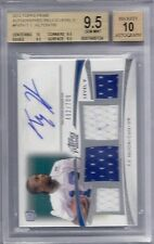 BGS 9.5 2012 Topps Prime LEVEL V QUAD RELIC/AUTO T Y Hilton RC COLTS #d 482/700