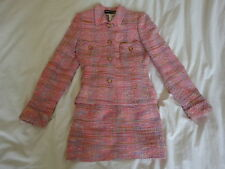 RICHARD CARRIERE HOT PINK TWEED SKIRT SUIT FR.36!!