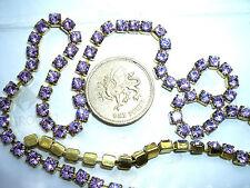 "12"" / 30cms Swarovski 17ss / 32pp Violet rhinestone cupchain / chain"