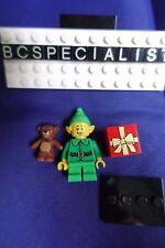 Genuine Lego 71002 Series 11 Minifigure no. 7 Holiday Elf w/ Teddy Bear Present