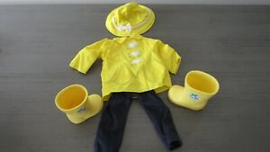 "Battat Rain shoes hat and outfit for dolls that Fits AG 18"" Inch"