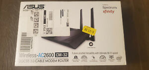 ASUS Wireless AC2600 CM-32 DOCSIS 3.0 Cable Modem & WiFi Router Combo