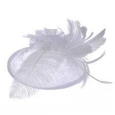 Lady Feather Headwear Fascinator Hair Clip Party Wedding Bridal Birdcage Hat