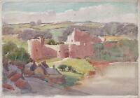 GEORGE GRAINGER SMITH 1892-1961 Watercolour Painting CHEPSTOW CASTLE WALES c1930