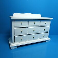 Dollhouse Miniature Bedroom Dresser ~ Wood in White T6079