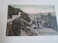 Vintage Trichromatic Postcard NEW PROMENADE+BATHING PAVILION FOLKESTONE JWS1586