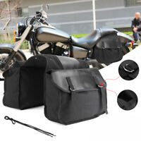 Universal Motorcycle Saddle Bags Side Luggage Box Tool Pouch For Honda Suzuki