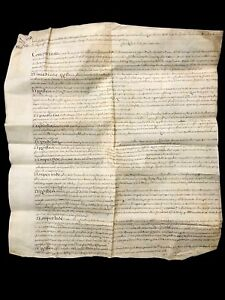 LARGE PARCHMENT IN LATIN 1701