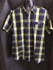 Amplify Men's Casual Short Sleeve Button Down Shirt Size XXL