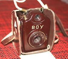 Bilora Luxus Boy rotbraun Bakelit von ca. 1954 Ber.-tasche Anleitung Karton