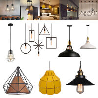 Vintage Industrial Metal Hanging Ceiling Lamp Pendant Light Fixture Shade Light