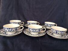 Vintage J Kronester - West Germany - Coffee / Espresso Cup & Saucer x 6
