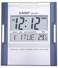Kadio-3810 Multi-functional Digital Electronic Wall /Table  Clock with Alarm