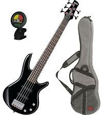 Ibanez GSRM25-BK Black 5-String Mikro Series Electric Bass Guitar w/FREE Ba
