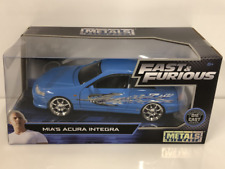 Fast and Furious Mias Acura Integra Type R Blue 1:24 Scale Jada 30739