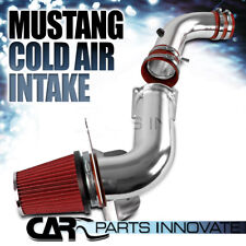 1994-1998 Ford Mustang 3.8L V6 Cold Air Intake Induction System+Filter Red