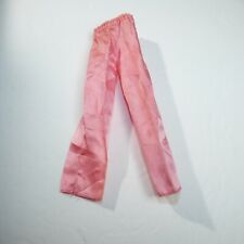 Vtg Barbie Clothing Pink Silk like elastic pull up long pants
