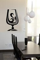 Vinyl Decal Wall Sticker Glass Drinks Collection Cognac Wine-Glass Decor (n850)