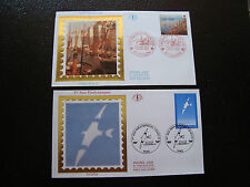 FRANCE - 2 enveloppes 1er jour 1991 (croix-rouge/jeux paralympiqu) (cy41) french