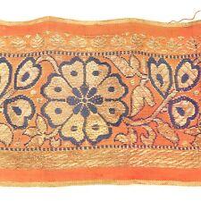 2m (6 foot) LONG Old Antique India SARI Saree TRIM Embroidered Textile 652m1