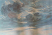 "high quality 36x24 oil painting handpainted on canvas ""clouds"""