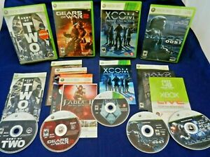Xbox 360;Halo 3 ODST-2 Discs,XCOM,Army of Two,Gears of War 2-Map pk,+, w/Mans,VG