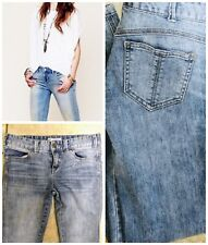 """Free People Denim Ankle Stretch 26"""" Women's Skinny Stone Wash Low Rise Jeans"""