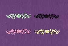 Flower Border small die cuts scrapbook cards
