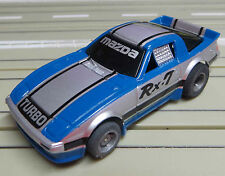 für H0 Slotcar Racing Modellbahn -- Mazda RX 7 mit  Tyco Chassis