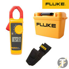 Fluke 323 True RMS Digital Clamp Meter KIT1E, H3 Holster and C1600 Tool Box Case