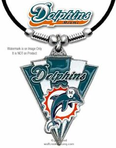 MIAMI DOLPHINS NECKLACE - NFL FOOTBALL SPORTS JEWELRY GIFT - FREE SHIPPING  #LA'