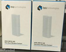 "Brand New ""2"" 2GIG 2GIG-DW10-345 Wireless Thin Door Window Sensor, Battery Magne"